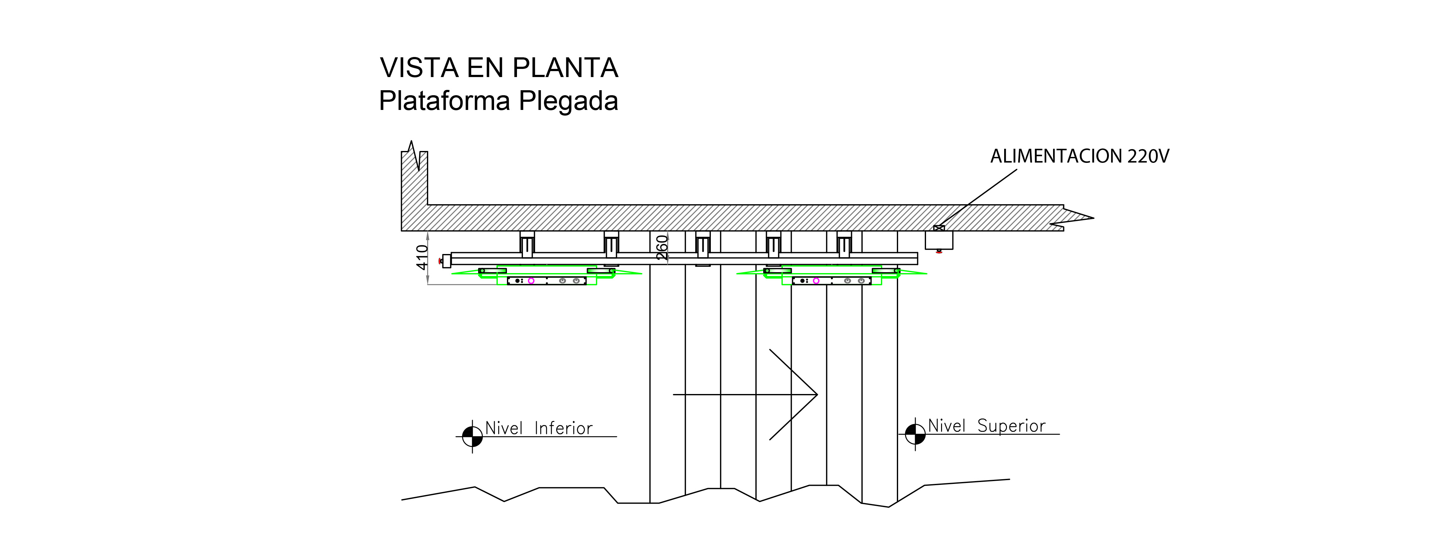 Plano Plataforma Oblicua Recta