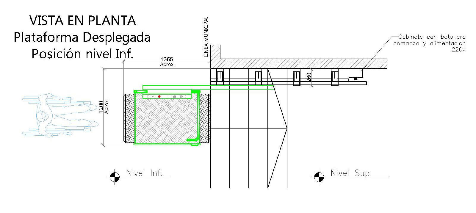 Plano Plataforma Oblicua Recta Línea Municipal